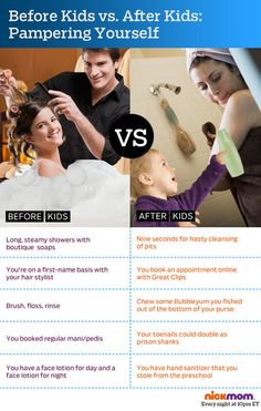 Life Before Kids vs. Life After Kids. Childfree, Parenting Humor, Have Time, Make Me Smile, More Fun, I Laughed, Laughter, Haha, Funny Quotes