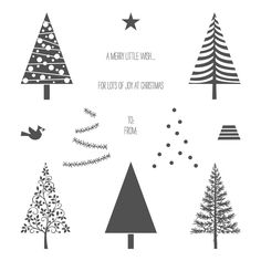 Festival of Trees Photopolymer Stamp Set - by Stampin' Up!
