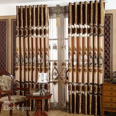 Living Room Decor Curtains, Home Curtains, Curtains For Sale, Grommet Curtains, Window Curtains, Bedroom Decor, European Style, European Fashion, Lace Embroidery
