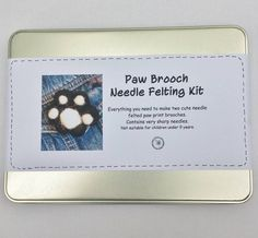 Paw Brooch Needle Felting Kit