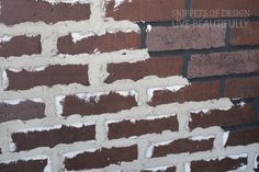 Add grout onto faux brick panels. Looks old and vintage Brick wall. Then whitewash the whole thing. Faux Brick Panels, Brick Paneling, Brick Walls, Fake Brick Wall, Brick Face, Old Bricks, Brick And Stone, Interior Walls, Luxury Interior