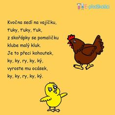 Básnička - Velikonoce Spring Projects, Music Lessons, Wedding Vows, Montessori, Winnie The Pooh, Disney Characters, Fictional Characters, Preschool, Education