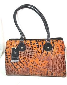 Biacci Genuine Leather Hand Tooled Purse Handbag Brown Black New  | Clothing, Shoes & Accessories, Women's Handbags & Bags, Handbags & Purses | eBay!