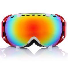 8830a3f2b7 Gafas de snowboard de esquí profesional de la niebla anti UV vidrios de la  motocicleta de