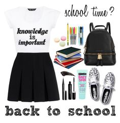 """""""♡back to school outfit♡"""" by gracekellyho on Polyvore featuring Alexander Wang, Keds, Michael Kors, Vera Bradley, Ladurée, Maybelline and Marc Jacobs"""