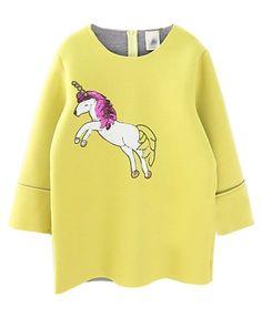 Pegasus Paillette Printed Seven Sleeves Sweatshirt