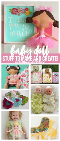 Doll Lover roundup! Stuff to buy make and create! - A girl and a glue gun