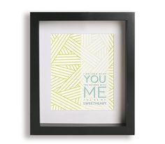 Ho Hey / Lumineers - Music Lyric Art Print - home decor, wall decor, modern art, gift idea, gift for her, gift for him