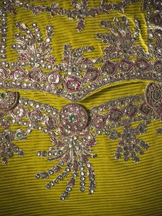 Detail of pocket, Man's suit, 1780-85: Coat and breeches: silk cut and uncut velvet on twill foundation with paste stones, foil, sequins, and metallic-thread embroidered appliqués; waistcoat: silk satin with foil, sequins, and metallic-thread embroidery. LACMA.