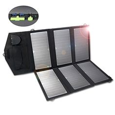 ALLPOWERS 18V 36W Solar Charger Dual 5V USB18V DC Output SunPower Solar Panel Charger with iSolar Technology for Laptop ipad iphone Samsung Acer Asus DellLenovo and 12V Car Boat RV Battery -- Click for more Special Deals