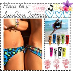 How to's~ Suntan Tattoos!, created by brittanylovey on Polyvore
