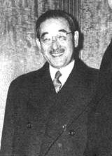 Saburō Kurusu (来栖 三郎 Kurusu Saburō?, March 6, 1886- April 7, 1954) was a Japanese career diplomat. He is remembered now as an envoy who tried to negotiate peace and understanding with the United States while the Japanese government under Hideki Tojo was secretly preparing the attack on Pearl Harbor. As Imperial Japan's ambassador to Germany from 1939 to November 1941, he signed the Tripartite Pact along with the foreign ministers of Nazi Germany and Fascist Italy on September 27, 1940.