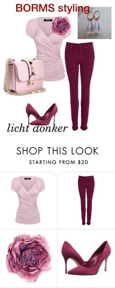 """licht donker"" by cat-line on Polyvore featuring mode, Barbour, Gucci, Sergio Rossi en Valentino"