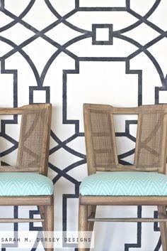 sarah m. dorsey designs: Refurbished Mid Century Modern Chairs