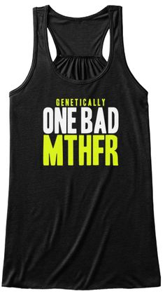 MTHFR - NO it is not a bad word, but sometimes you feel like it is. I have two copies (homozygous) for MTHFR so I can wear this shirt. Train Like A Beast, Love Fitness, Summer Shirts, Fitness Inspiration, Athletic Tank Tops, My Style, T Shirt, Fitness Outfits, Workout Outfits