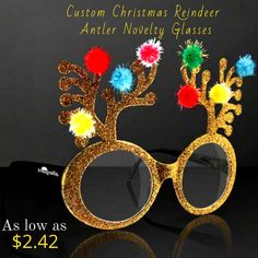 A great Christmas party gift item for this season! Covered with Golden glitter, it's 1 x imprint space showcases brand information exceptionally well. Reindeer Antlers, Golden Glitter, Unique Christmas Gifts, Party Gifts, Sunglasses, Space, Floor Space, Party Giveaways, Sunnies