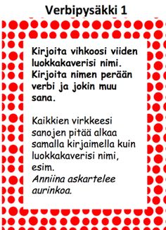 Verbejä ja historiaa Teaching Reading, Learning, Finnish Language, Abc For Kids, Future Jobs, Getting Bored, School Fun, Special Education, Literature
