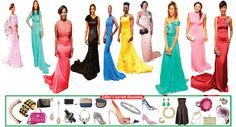 Gorgeous floor-length evening gowns