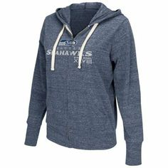 Touch by Alyssa Milano Seattle Seahawks 2013 NFC Champions Ladies Free Agent Nubby Tri-Blend Full Zip Hoodie