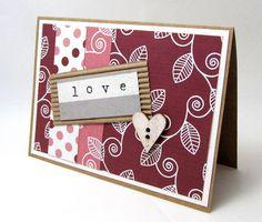 Love Card  Romance Card  Heart  Rustic Style  by PrettyByrdDesigns