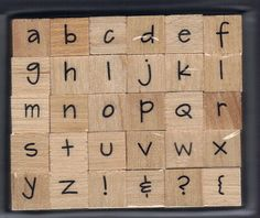BRAND NEW Studio G  wooden Alphabet stamp set 30 by HoleyCow, $1.99