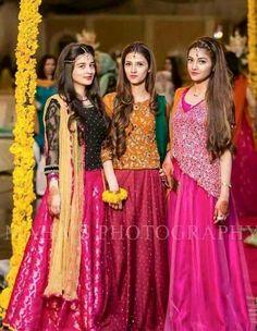 For Eraj s sharara. Mehendi Outfits, Pakistani Wedding Outfits, Pakistani Dresses, Indian Outfits, Wedding Dresses For Girls, Party Wear Dresses, Girls Dresses, Stylish Dress Designs, Stylish Dresses