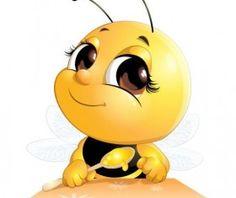 lovely cartoon bee set vectors 07