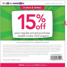 Toys R Us coupons & Toys R Us promo code inside The Coupons App. off at Babies R Us & Toys R Us, or online via promo code May Free Printable Coupons, Free Printables, Toys R Us Kids, Coupons For Boyfriend, Toy R, Love Coupons, Grocery Coupons, Extreme Couponing, Babies R Us