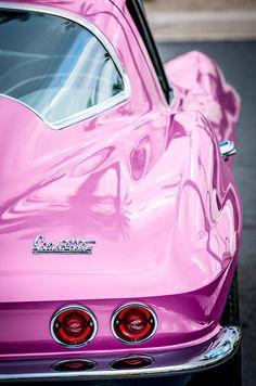 pink 1967 chevrolet corvette prints, pink car prints, pink car images, pink porsche prints, pink porsch images, pink porsche photographs