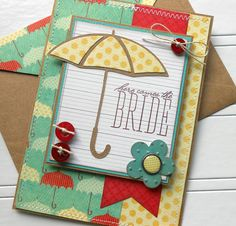 Handmade Bridal Shower Card with Matching by SewColorfulDesigns