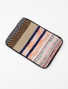 Henrik Vibskov Judith Laptop Case- Multi        Patterned wool and cashmere laptop case.
