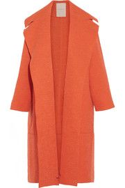 Roksanda Helston oversized bouclé and textured-felt coat