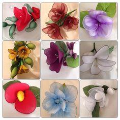 Nylon Flower Favours - www.youcraftymare.co.uk / www.youcraftymare.wix.com
