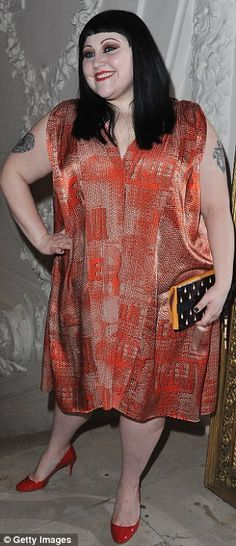 Beth Ditto attends the Jean-Paul Gaultier Fashion show (Jan 2012)