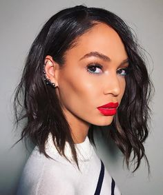 Here's How to Pull Off the Year's Trickiest Celebrity Makeup Trend - Joan Smalls from InStyle.com