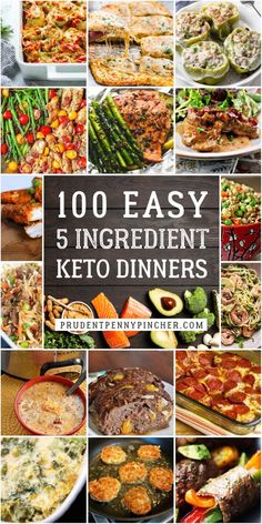 These quick and easy 5 ingredient keto dinner recipes are perfect for busy weeknights. Your keto diet will be a breeze with these simple and delicious low carb recipes. Mexican Chicken Recipes, Pork Recipes, Low Carb Recipes, Healthy Recipes, Quick Ground Beef Recipes, Cheap Recipes, Meatloaf Recipes, Healthy Meals, Crockpot Recipes