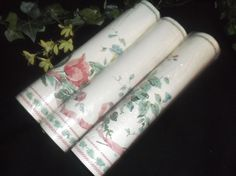 $6.96 or best offer Wallpaper Border Lot of 3 Shabby Cottage Chic Country Cottage DIY project  #Unbranded