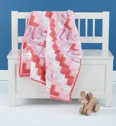 Free Crochet Pattern: Mitered Crochet Baby Blanket