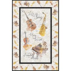 Wilmington Prints Musical Gift Life is a Song Wallhanging Quilt Kit