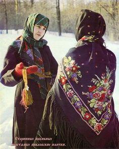 tissu imprimé slave ou russe Les châles russes anciens.
