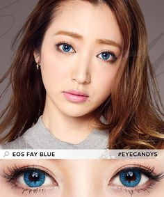 Colored contacts for brown eyes before and after #eyecandys #sweetenupyourlook SHOP at https://www.eyecandys.com/collections/colored-contacts
