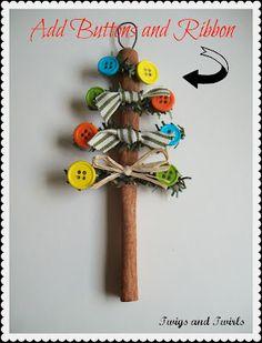 Twigs and Twirls: Christmas in July - Cinnamon Stick Tree - Ornament #1