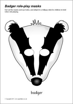 Badger role-play masks (SB6985) - SparkleBox