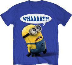 NEW Men Woman Adult Size Despicable Me Minion Creature Whaaa? Funny T ...