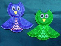 Owls More - Kids basteln Fun Crafts For Kids, Diy For Kids, Diy And Crafts, Paper Plate Crafts, Paper Plates, Owl Kids, Halloween Crafts, Kids And Parenting, Pin Collection