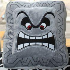 Super Mario Thwomp Pillow Cushion Shut Up And Take My Yen : Anime & Gaming Merchandise Super Mario All Stars, Super Mario Bros, Anime Gifts, Animal Pillows, Soft Dolls, Pet Gifts, Plush Dolls, Animals For Kids, Stuffed Animals