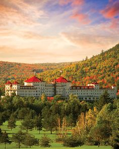 Omni Mount Washington Resort, Bretton Woods (omnihotels.com, 603-278-1000). Thomas Edison himself turned the lights on at this resort's opening dinner in 1902. Tiffany glass adds to the ambience inside, but the White Mountain National Forest outside is the retreat's main draw.