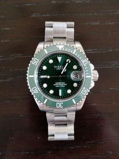 TISELL Sub Marine Hulk Green Ceramic Bezel Date MIYOTA Automatic Watch