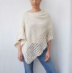Easy Free Crochet Poncho Patterns Ideas for Women Crochet Projects 2019 - Page 30 of 34 - hairstylesofwomens. com patterns for women Easy Free Crochet Poncho Patterns Ideas for Women Crochet Projects 2019 - Page 30 of 34 - hairstylesofwomens. Crochet Amigurumi, Crochet Baby, Knit Crochet, Crochet Woman, Crochet Tops, Easy Crochet Shawl, Crochet Vests, Crochet Blouse, Crochet Stitches
