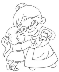 Grandmother's pictures for painting! Preschool Painting, Grandparents Day Crafts, Stick Figure Family, Eid Cards, Family Theme, Grands Parents, Cute Coloring Pages, One Stroke Painting, Doodle Designs